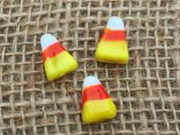 5 | Halloween Candy Corn Lampwork Glass Beads