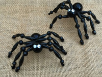 1 | Black Spider Ornament | Beaded Craft Kit