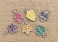 6 | Autumn Leaves Enamel Charms
