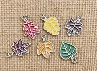 6 | Autumn Leaves Enamel Charms