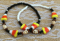 Candy Corn & Skulls Beaded Bracelet Kit
