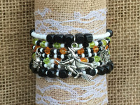 Flying Witch Stackable Beaded Bracelet