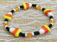 Candy Corn Beaded Bracelet