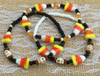 Combine with our Candy Corn & Skulls Bracelet for added Halloween fun!