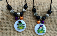 Enchanted Moon & Magical Toad Chunky Necklace