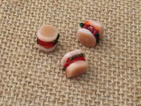 Sandwich Lampwork Glass Beads