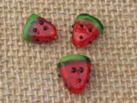 1 | Watermelon Slices Lampwork Glass Beads