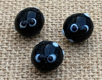 1 | Black & White Ghost Lampwork Glass Beads