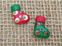 1 | Vintage Christmas Stocking Glass Beads
