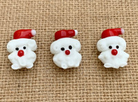 1 | Curly Beard Santa Lampwork Beads