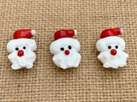 1   Curly Beard Santa Lampwork Beads