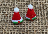 1 | Mrs. Clause Santa Hat Lampwork Beads