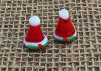 1   Mrs. Claus Santa Hat Lampwork Beads