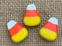 1   Fancy Candy Corn Glass Bead