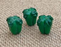Green Bell Pepper Lampwork Glass Beads