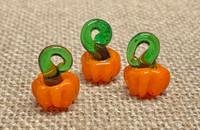 1 | Orange Pumpkin Lampwork Glass Charms