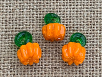 1 | Orange Pumpkin Lampwork Glass Charms