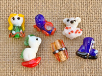 6 | Santa's Christmas Toys Lampwork Glass Beads