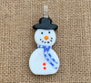 Snowman Pendant Dark Blue Scarf