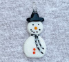 Snowman Pendant Black Scarf