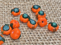 1 | Fancy Pumpkin Lampwork Glass Beads