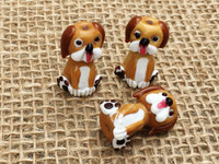 1 | Brown Puppy Dog Lampwork Glass Bead