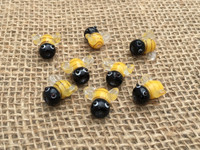 1 | Honey Bees Lampwork Glass Bead