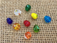 3   Colorful Easter Egg Lampwork Beads