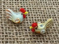 1 | Brown Chicken Lampwork Glass Beads