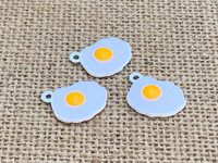 1 | Fried Egg Enamel Charm