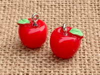 1 | Red Apple Resin Charm