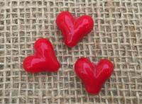 1 | Big Red Heart Lampwork Glass Bead