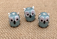 1 | Gray Owl Lampwork Glass Bead