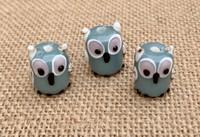 1 | Gray Owl Lampwork Glass Bead