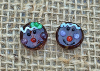 1 | Gingerbread Head Lampwork Glass Beads