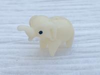 1 | White Elephant Lampwork Glass Bead