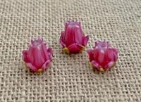 1 | Pink Tulip Lampwork Glass Bead