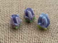 1 | Purple Tulip Lampwork Glass Bead