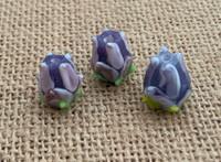 1 | Purple Tulip Lampwork Glass Bead