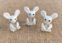 1 | White Rabbit Lampwork Glass Bead