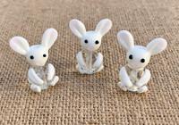 1 | White Rabbits Lampwork Glass Bead