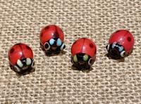 1 | Red Ladybug Bead Lampwork Glass
