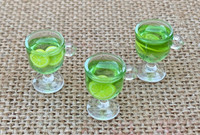 1   Green Resin Cocktail Charms