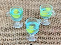 1 | Aqua Blue Resin Cocktail Charms