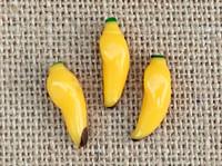 1 | Yellow Bananas Lampwork Glass Bead