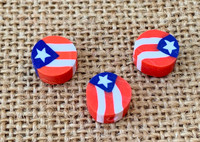 Stars & Stripes Polymer Clay Beads