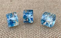 1   Speckled Resin Column Bead - Indigo Blue