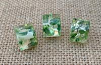 1 | Speckled Resin Column Bead - Emerald Green