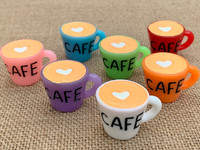 1 | Cafe Cup Charm | 3D Resin