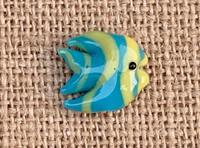 1 | Blue & Yellow Tropical Fish Lampwork Bead